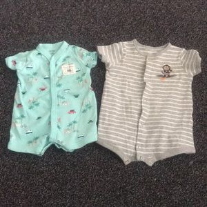 Two baby boy rompers